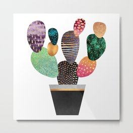Pretty Cactus Metal Print