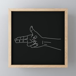 Guns for hands Framed Mini Art Print