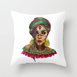 VoodoWitch Solo #3 Throw Pillow