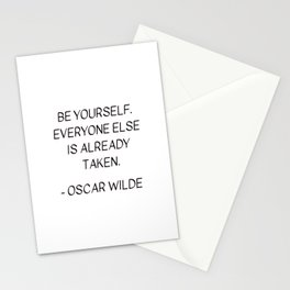 BE YOURSELF - OSCAR WILDE Stationery Cards