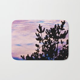 Pine Trees and Surf Clouds Bath Mat