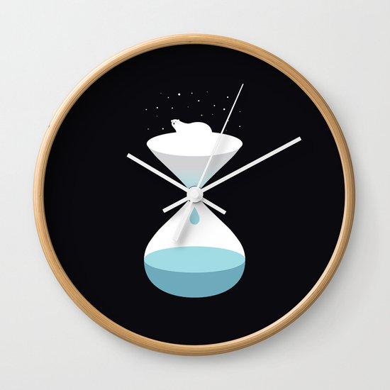 terminally ill polar bear Wall Clock