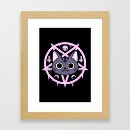 Black Meowgic 04 Framed Art Print