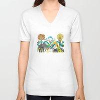 evolution V-neck T-shirts featuring Evolution by Design4u Studio