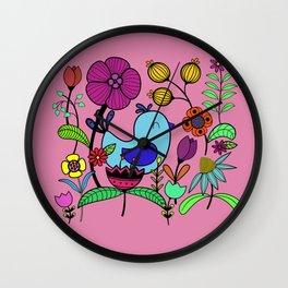 Flower bird Wall Clock