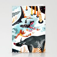 jungle Stationery Cards featuring Jungle by Adelina Mehmeti