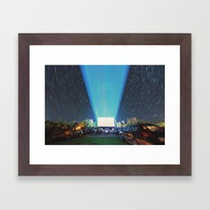 At the Drive In Framed Art Print