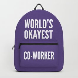 World's Okayest Co-worker (Ultra Violet) Backpack