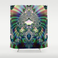 lace Shower Curtains featuring LACE  by Jupiter Bencze Julianna Queen