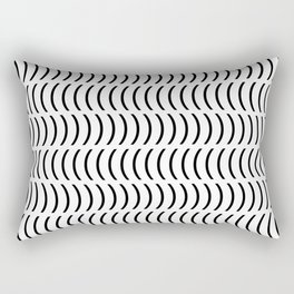 Smiley Small B&W Rectangular Pillow