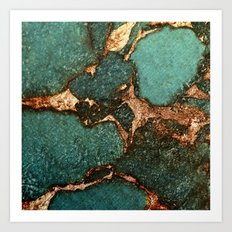 EMERALD AND GOLD Art Print