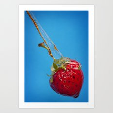 Strawberry and Syrup Art Print