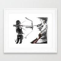 lara croft Framed Art Prints featuring Lara Croft: Dimensional Shift  by Sean Thomas McDowell