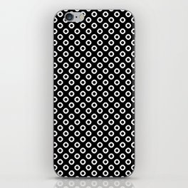 Black and white circles iPhone Skin