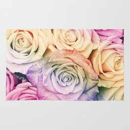 Some people grumble- Colorful Roses- Rose pattern Rug