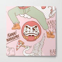 Kabuki Tribe Metal Print