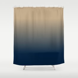 Midnight Sonata in Blue Shower Curtain
