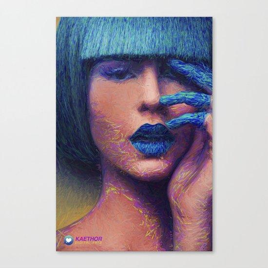 Blue - Illustration Canvas Print