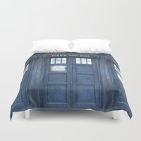 tardis Duvet Covers featuring Tardis by bimorecreative