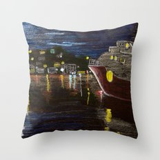 Moonlit Carenage Throw Pillow