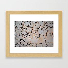 Maple Leaf Iron Grate Framed Art Print