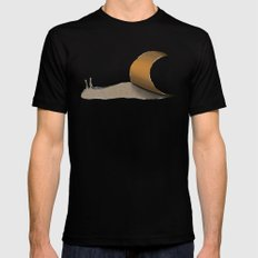 snail Black Mens Fitted Tee LARGE