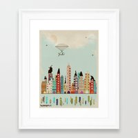 indiana Framed Art Prints featuring visit Indianapolis Indiana by bri.buckley
