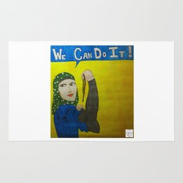 Muslim Rosie the Riveter Rug