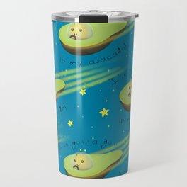 Avacado in Space Travel Mug