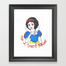 Girls' Fantasy - Snow White's dream Framed Art Print