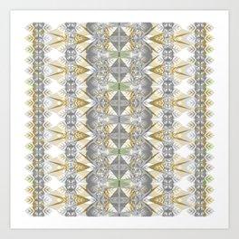 Classic Art Nouveaux Neo Tribal Geometric Art Print