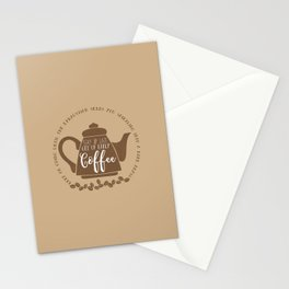 Stay up late. Get up early. Coffee. Stationery Cards