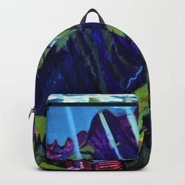 Mountain Landscape in the Sun by Ernst Ludwig Kirchner Backpack
