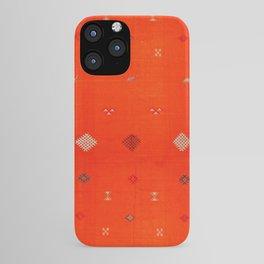 N6 | Vintage Orange Anthropologie Moroccan Artwork. iPhone Case