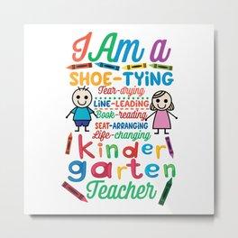 Teacher Preschool Teacher Metal Print