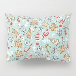 Gingerbread Dreams - Aqua Pillow Sham