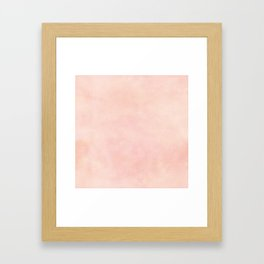 pink blush color trend plain texture Framed Art Print
