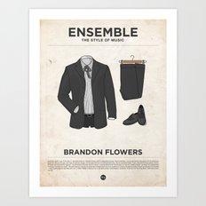Ensemble - Brandon Flowers Art Print