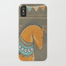 Horse Head - Chocolate iPhone X Slim Case