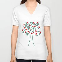 christmas tree V-neck T-shirts featuring Christmas Tree by Pippi Dust
