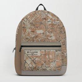 Milan, Italy / Milano, Italia antique map Backpack