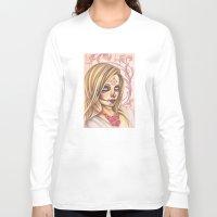gemma correll Long Sleeve T-shirts featuring Blonde Sugar Skull by Gemma Pallat by ToraSumi