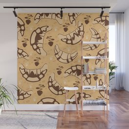 Seamless croissant background Wall Mural