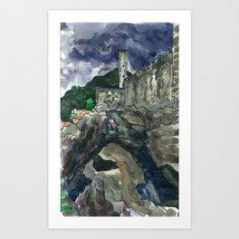 castelgrande without Art Print