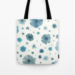 Dusky Blue Flower Garden Tote Bag