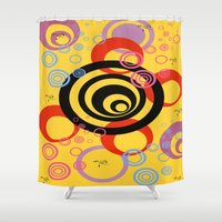 illusion Shower Curtains featuring Illusion by Ketjokha