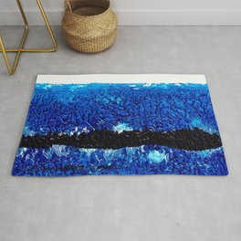Two red brush strokes for Matisse Rug