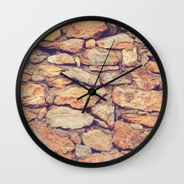 Rocky Stone Masonry Cladding Wall Clock