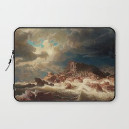 Marcus Larson - Stormy Sea With Ship Wreck Laptop Sleeve