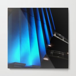 Exotic Blue Metal Print